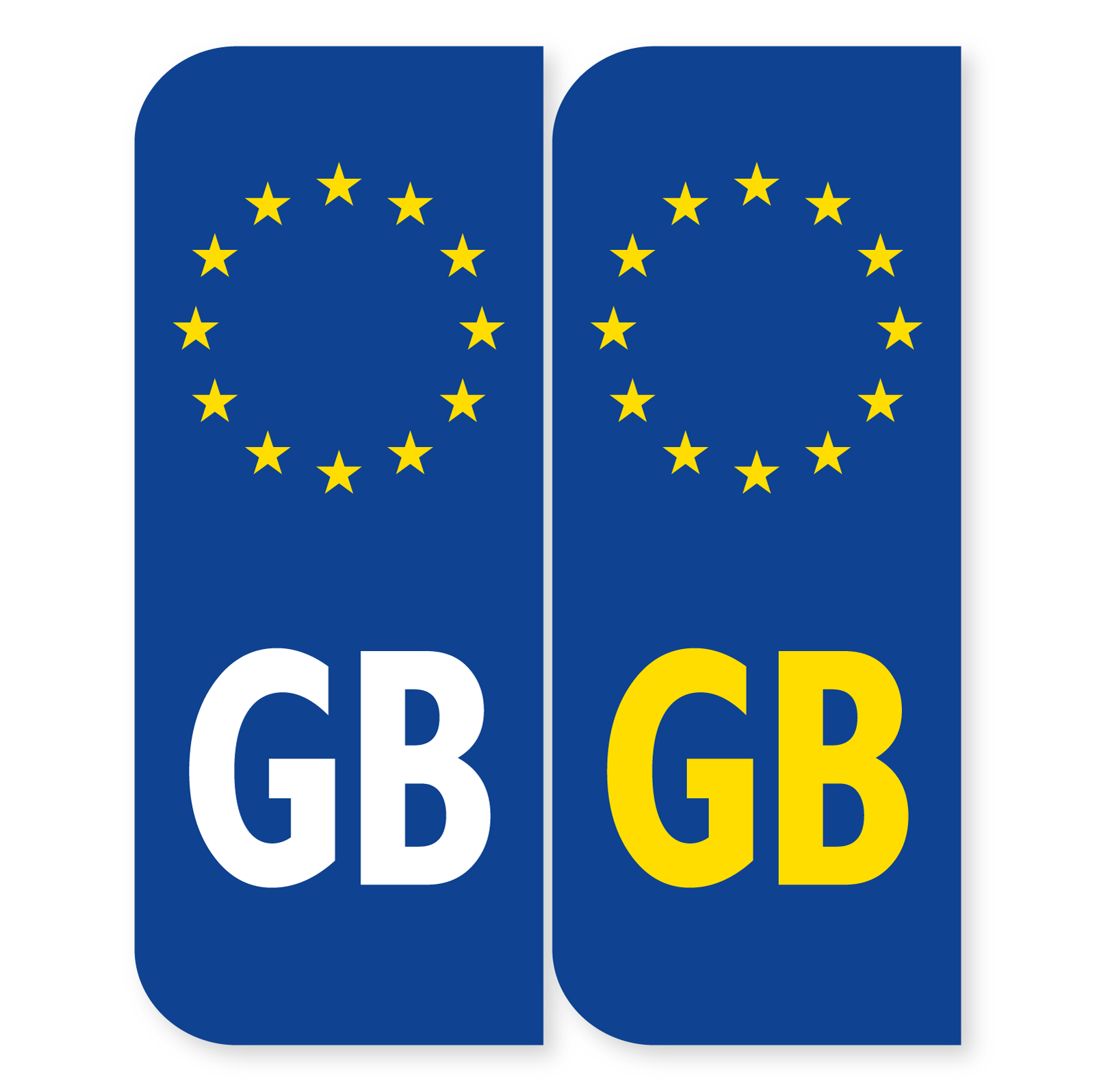 GB Number Plate Sticker 110mm
