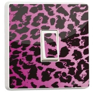 pink leopard light switch