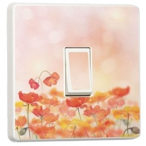 Poppy Blossom light switch